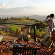 schöne Lodge auf Safari