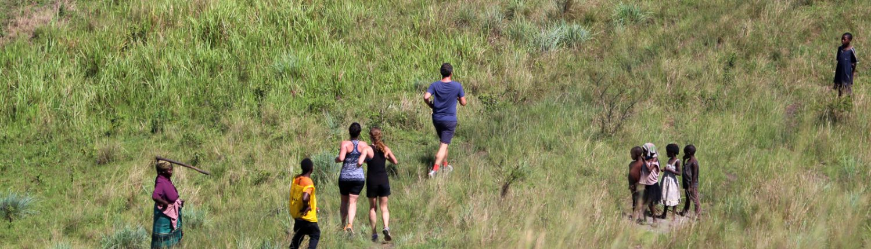 Wettkampf Triathlon in Uganda
