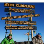 Routenwahl am Kilimandscharo