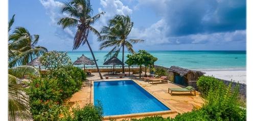 Afrika-Badeurlaub am Strand